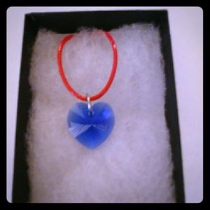 Jewelry - West Coast Blue Crystal Heart Necklace